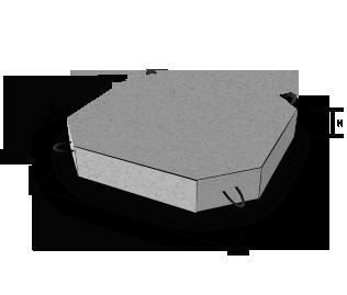 Плита укрепления П-1к