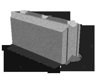 Блок для стен забора